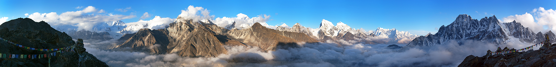 mount everest panorama image